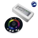Controller RGB 2.4G Round 12-24 Volt DC Black Body