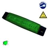 LED Φώτα Όγκου Φορτηγών IP66 Πράσινο GloboStar 77472