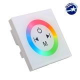 Touch Panel Τοίχου RGB Controller 12-24 Volt 144 Watt White Body