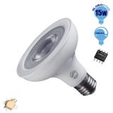 Λαμπτήρας LED E27 PAR30 12 Μοίρες 15 Watt 230v Θερμό Dimmable GloboStar 01783