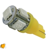 Λαμπτήρας LED T10 με 5 SMD 5050 Πορτοκαλί