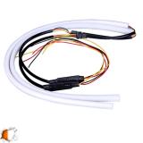 ΣΕΤ DRL - Φώτα Ημέρας για Φανάρι Αυτοκινήτου Λευκό + Πορτοκαλί για Φλας 60cm GloboStar 55112