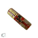 Λαμπτήρας T10 24 SMD Σιλικόνης Ψυχρό Strobe