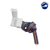 Μονός Connector 10mm 15cm Για Ταινία LED RGB 7.2 & 14.4 Watt GloboStar 91550