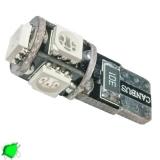 Λαμπτήρας LED T10 Can Bus με 5 SMD 5050 Πράσινο