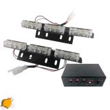 Φώτα Οδικής Βοήθειας LED 2 x 3 12-24 Volt DC Πορτοκαλί Εξωτερικά