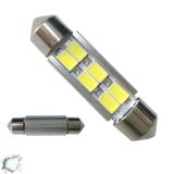 Σωληνωτός LED 39mm 6 SMD 5630 10-30 Volt Ψυχρό Λευκό GloboStar 77358