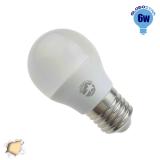 Γλομπάκι LED G45 με βάση E27 6 Watt 230v Θερμό GloboStar 01711