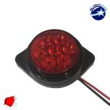 LED Πλευρικά Φώτα Όγκου Φορτηγών BULLET IP66 7 SMD 24 Volt Κόκκινο