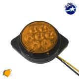 LED Πλευρικά Φώτα Όγκου Φορτηγών BULLET IP66 7 SMD 24 Volt Πορτοκαλί GloboStar 75489