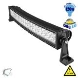 Μπάρα LED Curved 120W CREE Combo 10-30v DC Ψυχρό Λευκό 14400 Lumen GloboStar 05190