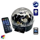 Ασύρματη RGB Disco Μπάλα DMX LED με Χειριστήριο GloboStar 47723