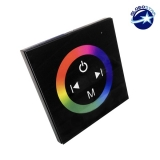 Touch Panel Τοίχου RGB Controller 12-24 Volt 144 Watt Black Body