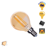 Γλομπάκι LED Edison Filament Retro Μελί Globostar E14 4 Watt g45 Θερμό Dimmable