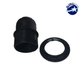 ΣΕΤ Ντουί E27 με Ροδέλα Πλαστικό Μαύρο DIY GloboStar 90019