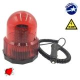 Φάρος Πυροσβεστικής 100 LED 10-30 Volt DC Κόκκινος με Μαγνήτη