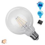 Γλόμπος LED Edison Filament Retro Globostar E27 4 Watt G95 Θερμό Dimmable