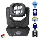 Κινούμενη Ρομποτική Κεφαλή CREE LED 120 Watt TORNADO Super Beam με 4 Κινούμενα Κάτοπτρα Prism Lens DMX512