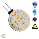 G4 12 smd 5630 Side Pin 8-32 Volt 4.5 Watt DC Θερμό Λευκό GloboStar 99373