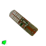 Λαμπτήρας T10 24 SMD Σιλικόνης Πράσινο Strobe