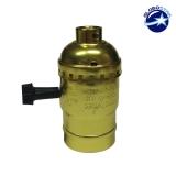Vintage Industrial Retro E27 Χρυσό Ντουί με Διακόπτη DIY GloboStar 90016