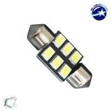 Σωληνωτός LED PCB 31mm με 6 SMD 5630 Samsung Chip Λευκό 6000k