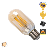 Γλόμπος LED Edison Filament Retro Μελί E27 4 Watt Τ45 Θερμό Dimmable GlbooStar 44019