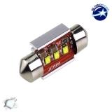 Σωληνωτός LED 36mm Can Bus με 3 CREE LED Ψυχρό Λευκό GloboStar 40170