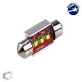 Σωληνωτός LED 31mm Can Bus με 3 CREE LED Ψυχρό Λευκό GloboStar 40169