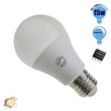 Γλόμπος LED A60 με βάση E27 15 Watt 230v Θερμό Dimmable  GloboStar 01741