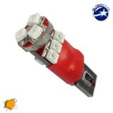 Λαμπτήρας LED T10 Can Bus με 9 SMD 1210 Πορτοκαλί