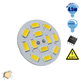 G4 12 smd 5630 Back Pin 8-32 Volt 4.5 Watt DC Θερμό Λευκό GloboStar 99370