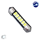Σωληνωτός LED 39mm με 6 SMD 5630 Samsung Chip Λευκό 6000k GloboStar 40148