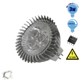LED Spot MR16 3x1 Watt 12 Volt Λευκό Ημέρας GloboStar 77454
