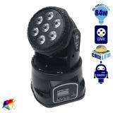 Κινούμενη Ρομποτική Κεφαλή CREE LED 84 Watt RGBW WASH High Quality DMX512 GloboStar 51111
