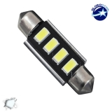 Σωληνωτός LED 39mm Can Bus με 4 SMD 5630 Ψυχρό Λευκό GloboStar 40158