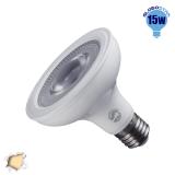 Λαμπτήρας LED E27 PAR30 12 Μοίρες 15 Watt 230v Θερμό GloboStar 01780