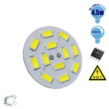 G4 12 smd 5630 Back Pin 8-32 Volt 4.5 Watt DC Ψυχρό Λευκό
