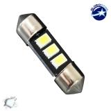 Σωληνωτός LED 36mm με 3 SMD 5630 Samsung Chip Λευκό 6000k