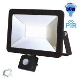 Προβολέας LED Slim Pad Globostar 50 Watt 230v Ψυχρό με Αισθητήρα