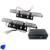 Φώτα Ασφαλείας LED 2 x 3 12-24 Volt DC Μπλε Εξωτερικά