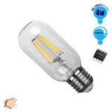 Γλόμπος LED Edison Filament Retro E27 4 Watt T45 Θερμό Dimmable GloboStar 44017