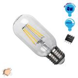 Γλόμπος LED Edison Filament Retro Globostar E27 4 Watt T45 Θερμό Dimmable