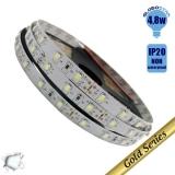 Ταινία LED 4.8 Watt 12 Volt Ψυχρό Λευκό IP20 GloboStar 23730
