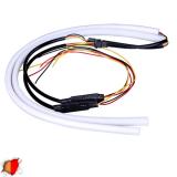 ΣΕΤ DRL - Φώτα Ημέρας για Φανάρι Αυτοκινήτου Κόκκινο + Πορτοκαλί για Φλας 85cm GloboStar 55116