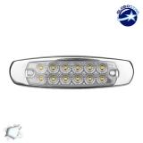 LED Πλευρικά Φώτα Όγκου Φορτηγών Αλουμινίου Νίκελ IP66 14 SMD 24 Volt Ψυχρό