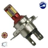 Λαμπτήρας LED H4 Can Bus με 57 SMD 4014 6000k