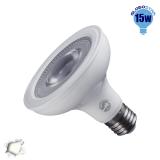 Λαμπτήρας LED E27 PAR30 12 Μοίρες 15 Watt 230v Ημέρας GloboStar 01779