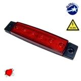 LED Φώτα Όγκου Φορτηγών IP66 Κόκκινο GloboStar 77470