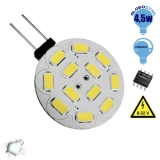 G4 12 smd 5630 Side Pin 8-32 Volt 4.5 Watt DC Ψυχρό Λευκό GloboStar 99372